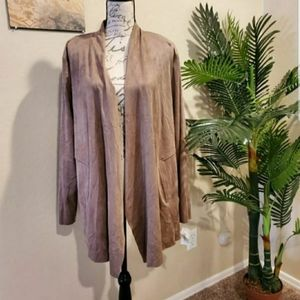 Style & Co suede cardigan